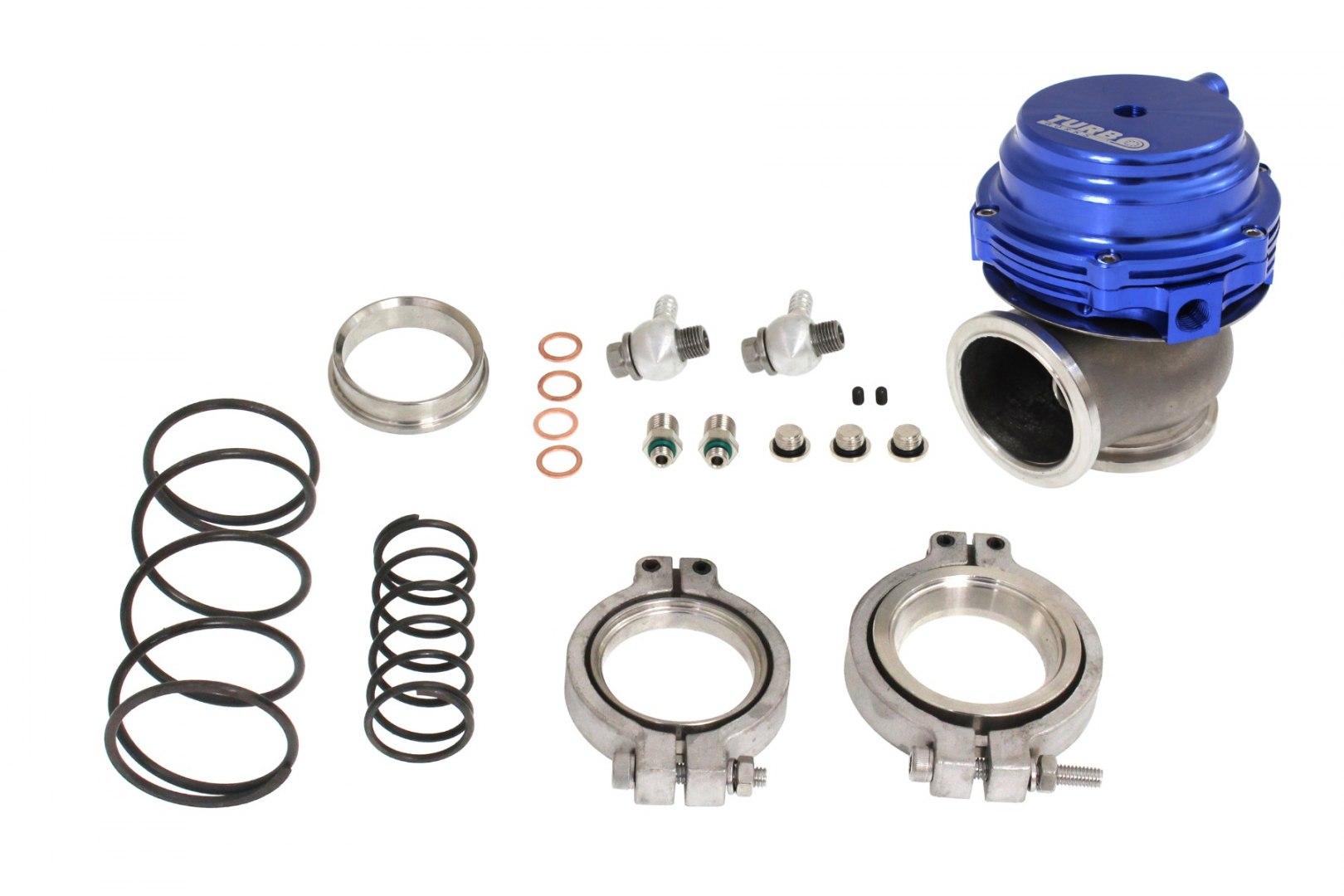 Wastegate zewnętrzny TurboWorks 44mm 1,6 Bar V-Band Blue - GRUBYGARAGE - Sklep Tuningowy